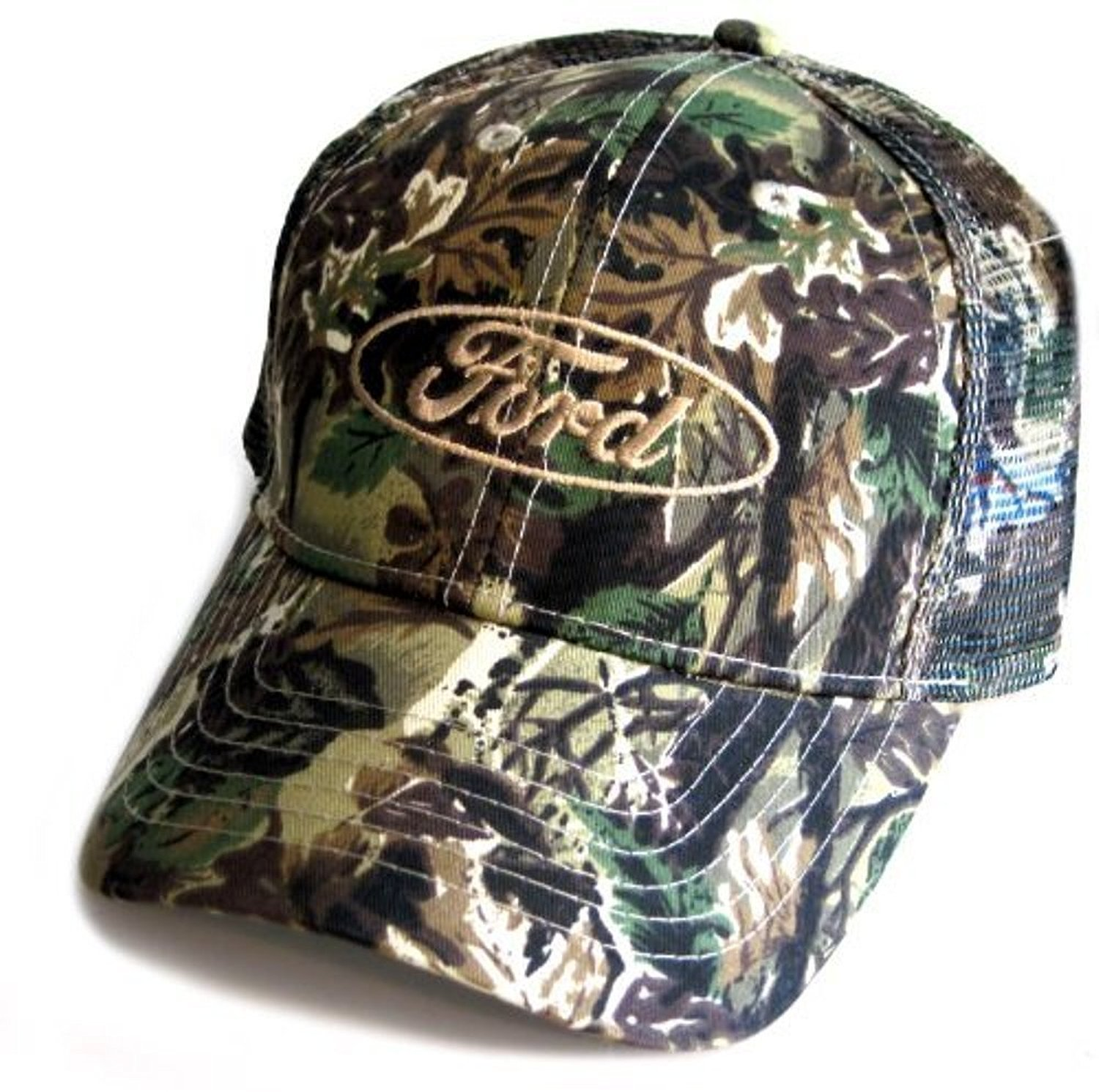 b860ce45b19 Get Quotations · Ford Oval Camo Twill Mesh Hat