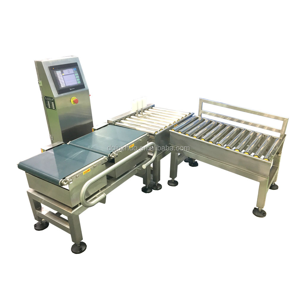 Automatic dynamic Check Weigher machine for fish and chicken sorting and weighing JZ-W25000
