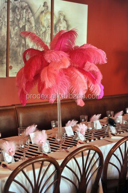 Tall Wedding Candelabra Centerpiece Ostrich Feather