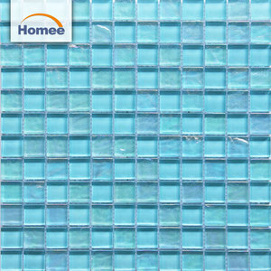 300x300 sheet size mosaic blue wave glass tile for swimming pool tiles glass mosaic