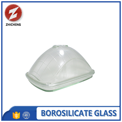 heat shock resistance clear borosilicate glass lamp cover