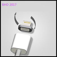 Magnetic Charging Cable,2 in 1 Magnetic Charger Cable Adapter for Android Micro USB and LightingApple iPhone 7 6 6s Plus