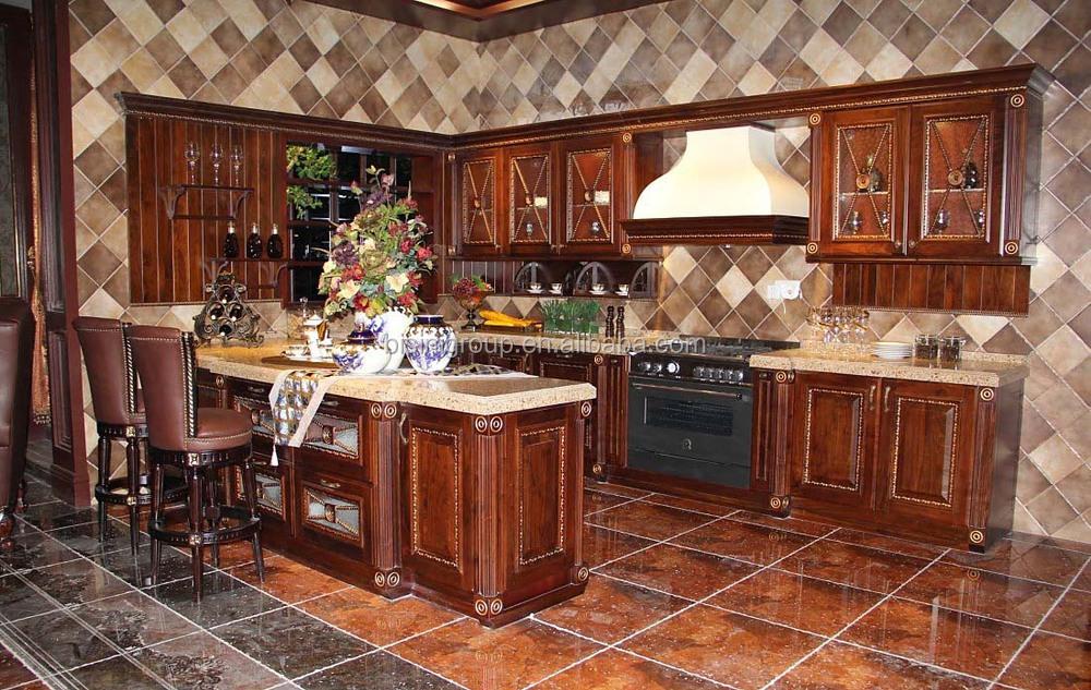 Gabinete de cocina de madera cocina isla de estilo for Modelos de muebles de cocina en madera