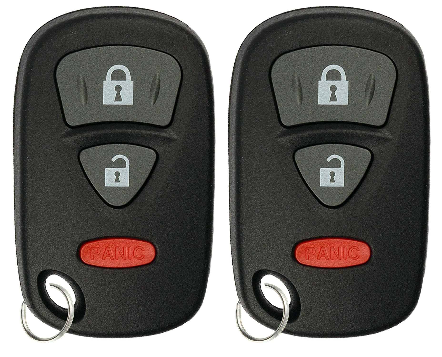 KeylessOption Keyless Entry Remote Car Key Fob Case Shell Pad Replacement for KBRTS005