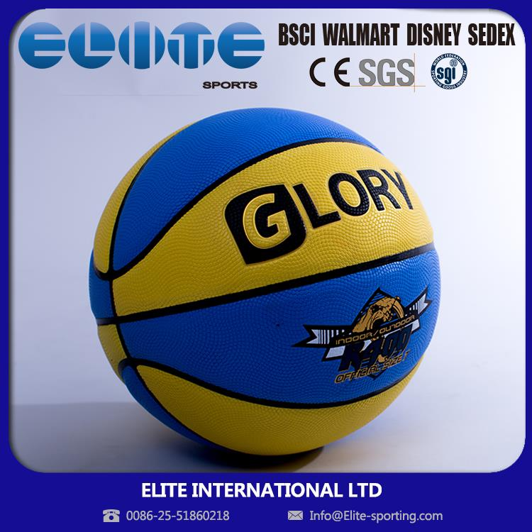 ELITE-ISO Certificated sophisticated technology rainbow basketball size 7