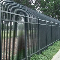 Decorative Cheap Metal Used Wrought Iron Fencing For Sale