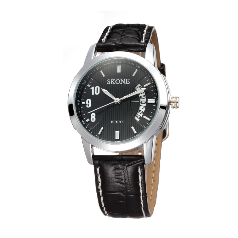 Famous Brand SKONE Luxury Sports High Quality Mens Watches Calendar Leather Watches