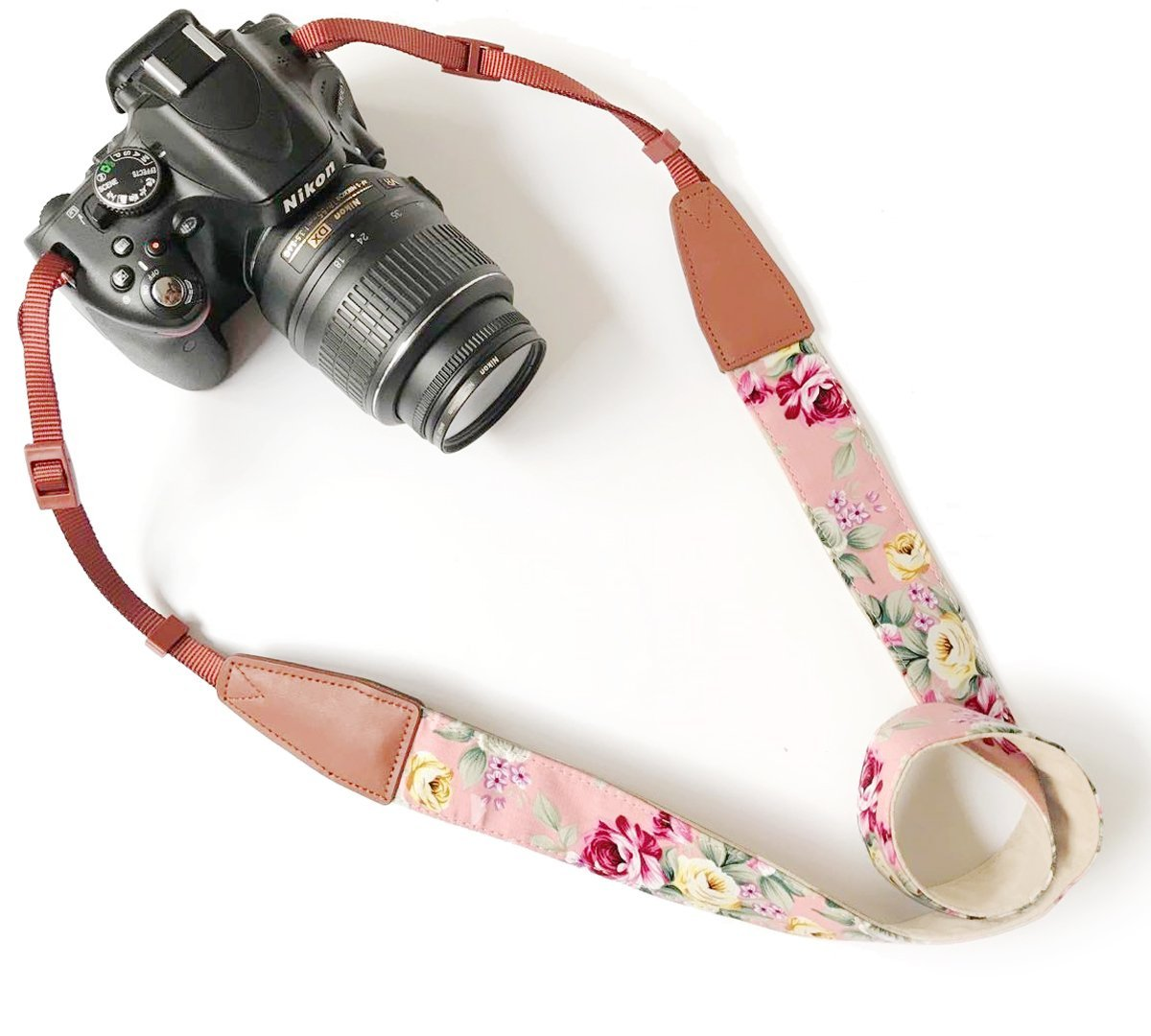 Camera Neck Shoulder Belt Strap,Alled Leather Vintage Print Soft Camera Straps for Women /Men for DSLR / SLR / Nikon / Canon / Sony / Olympus / Samsung / Pentax