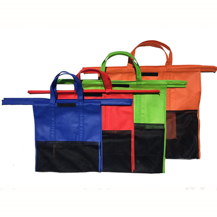 Shopping bag di alta qualità trolley tote bag/Riutilizzabile pieghevole Carrello 4 Trolley di colore Shopping bag