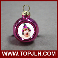 Christmas Ornaments pink Plastic Balls for sublimation printing