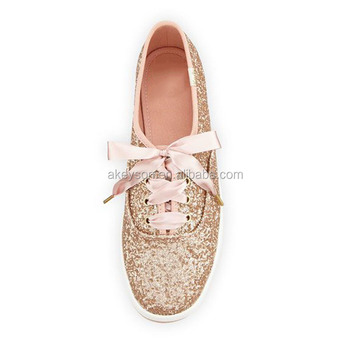 New Arrival Women Rose Gold Glitter Keds Flats Sneakers Wholesale - Buy  Glitter Keds Flats,Glitter Flats,Glitter Sneakers Product on Alibaba.com