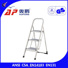 TUV GS approved household metal step ladder feet AP-1203 small ladder very convenient