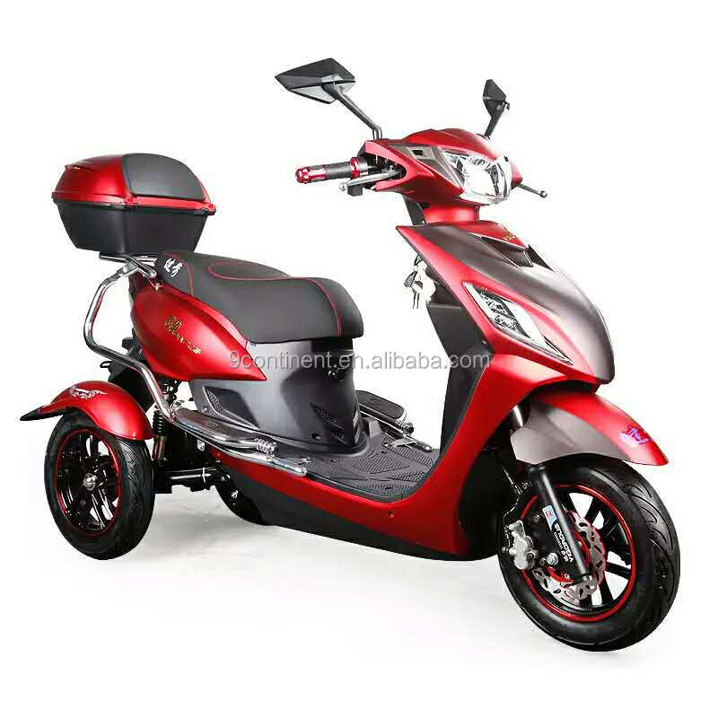 800w Lithium Battery Three Wheel Electric Tricycle