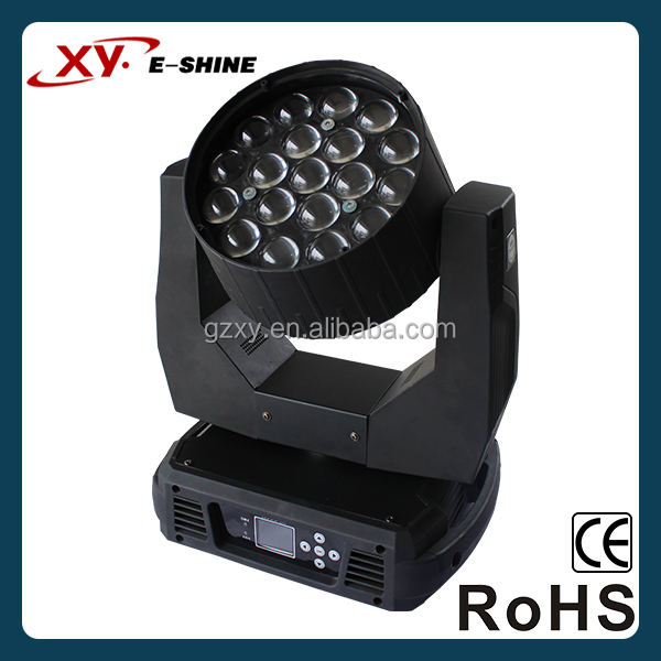 RGBW 4-in-1 led moing head zoom wash 19*12W LED moving head wash pan&tilt unlimited rotation
