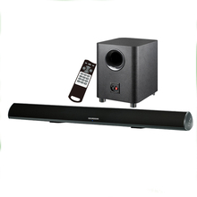 2.1 channel soundbar with Home theater subwoofer to the optical input tv sound bar speaker