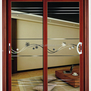 latest design aluminium wood color door interior door