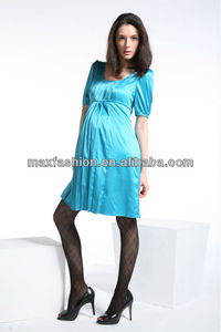 Pinup Pencil Bombshell Satin Maternity Dress