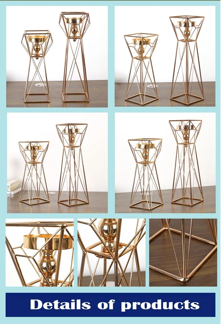 NO H013 European neoclassical elevated iron art candle holder in home decoration