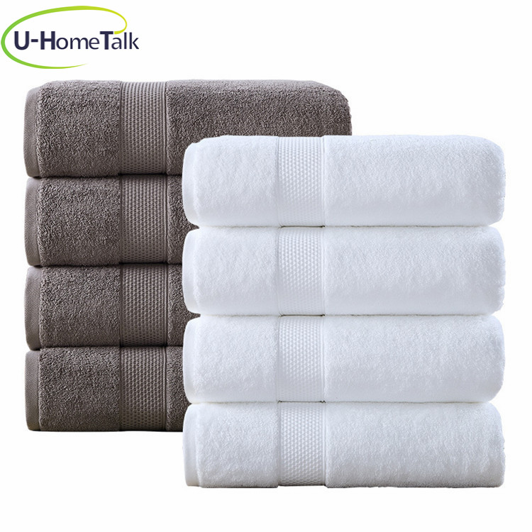 U-HomeTalk UT-JD009 Wholesale Design Hotel Terry Cotton Bath Towel Bathroom 100%Cotton Oversized Customized Oeko-Tex Bath Towel