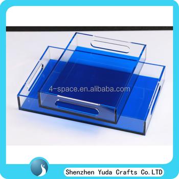 Blue Acrylic Tray With Insert Slot For Bespoke Photo,Plexiglass ...