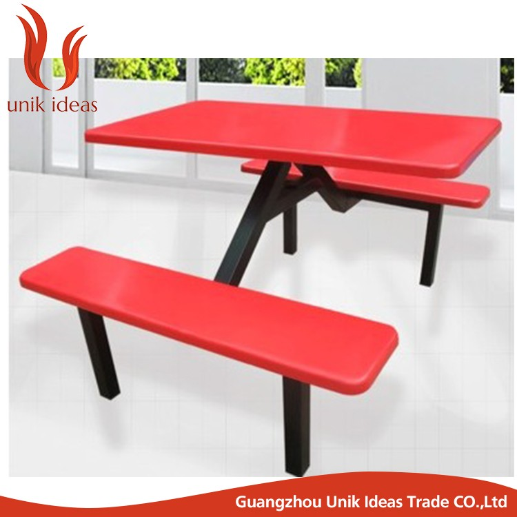 Fiberglass Top School Mess Hall Table Red ...