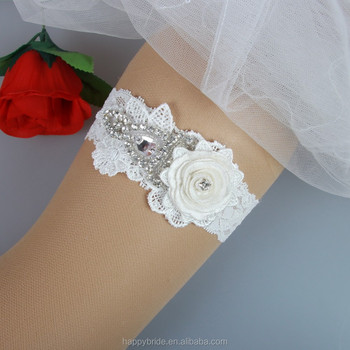 Factory Cheap Lace Leg Belt For Bride Wedding Garter Belt Handmade HT00080