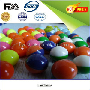 0.68 inch paintball balls 0.68 caliber China