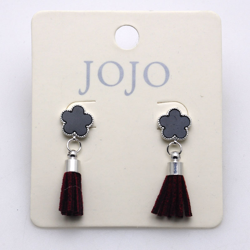 Small beautiful earrings enamel earrin studs with tassels