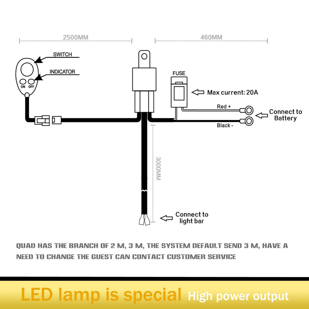 Rigid Wiring Diagram Great Design Of Industries Light Bar Led Lights Free Harness Radiance