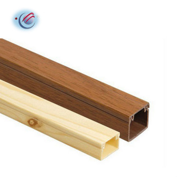 Decorative Wood Grain Effect trunking PVC Cable Trunking