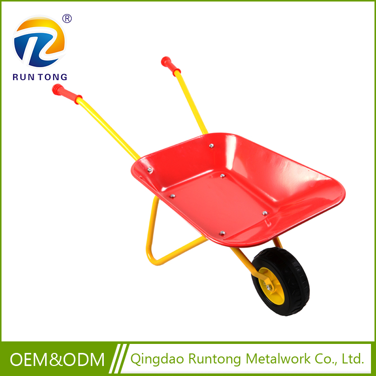 2017 New Style High Quality Low Cost Pushable Metal Power Wheelbarrow