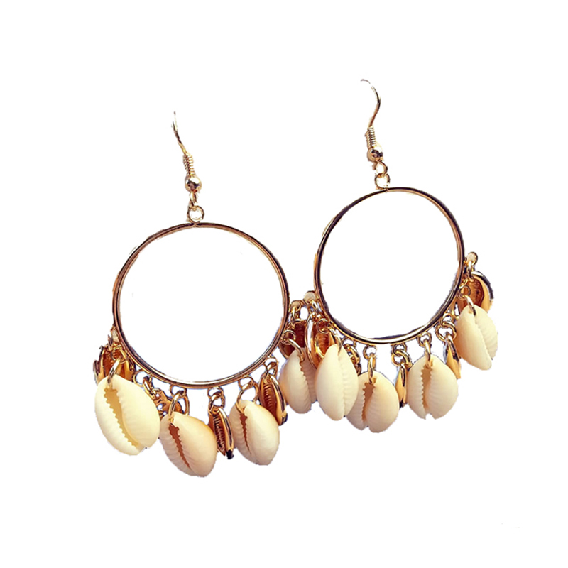 White Cowrie Shell Conch Hoops <strong>Earring</strong> African Inspired Beach Boho Bohemian Earthy Natural Organic Hemp Hoop <strong>earring</strong>