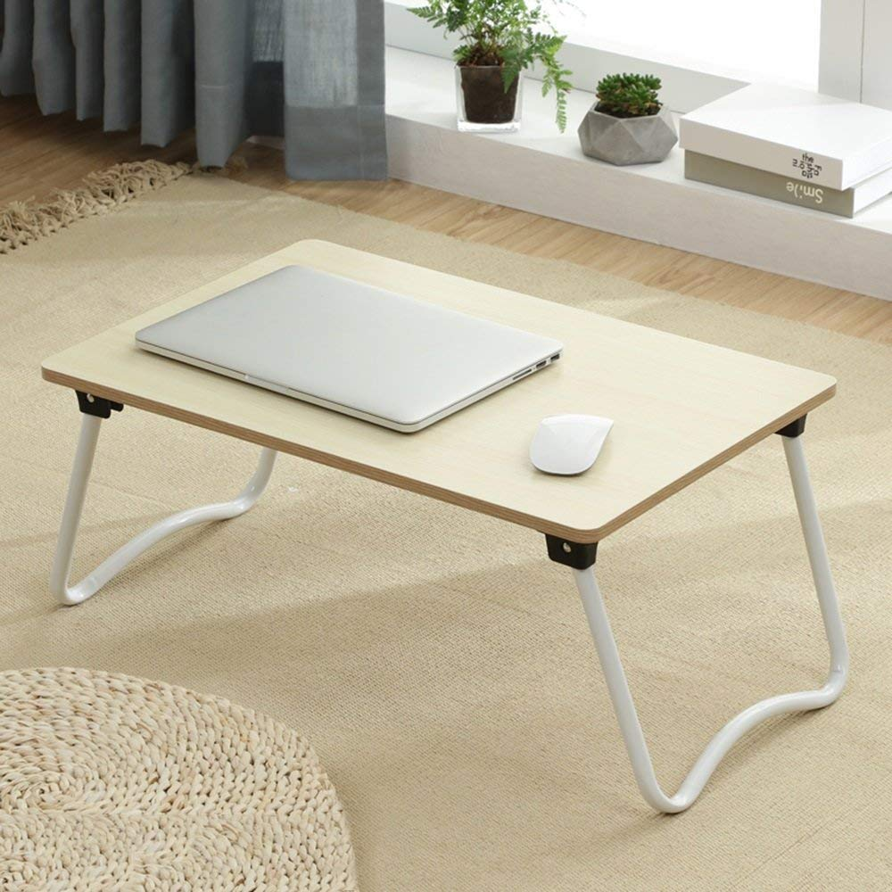 Folding Laptop Desk Table Stand, Computer Laptop Stand,Foldable Breakfast Tray,Notebook Laptop Desk ,Lazy Table Bed Desk,Stahlrahmen ,Portable Folding ( Color : 4#-583827 )