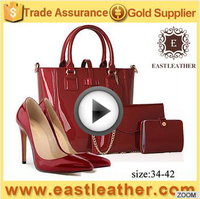 SHB218 early spring 2017 classical style italian shoes and handbag set