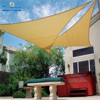 3 x 3 x 3 or 4 x 6 Natural style outside triangle pool sun shade sail with 5 years using life