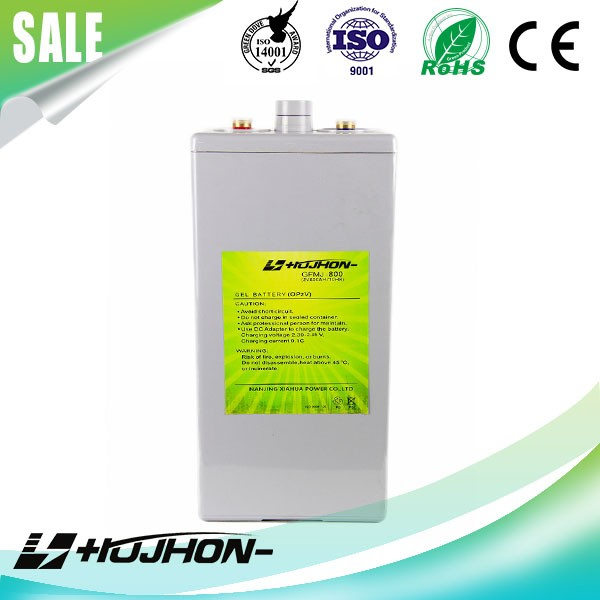 Free-maintain opzv 2v800AH battery with Germany Safety Valve Technology for solar panel system