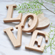 High Quality eco-friendly home Small Decorative Wooden Letters 3D Letter MDF alphabet letters