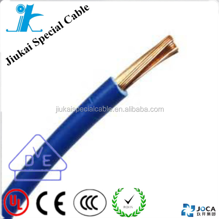 RoHS CE Approved bendable single core copper cable H07V-K wire 1.5mm2 China famous factory