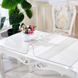 soft glass transparent tablecloth waterproof clear pvc table protector