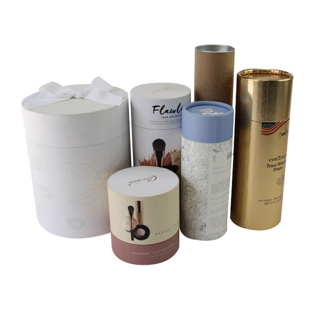 Wholesale Custom Fancy Logo Printed Kraft Paper Tube/Paper Tube Packaging