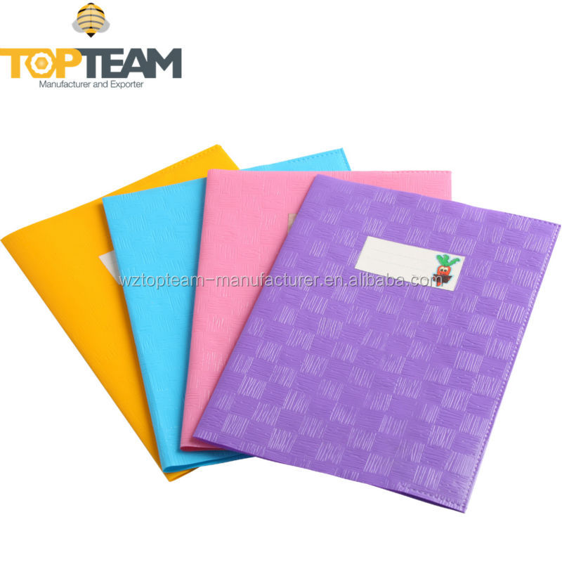 Plastic Book Cover Material : Clear embossed plastic a pvc exercise book cover