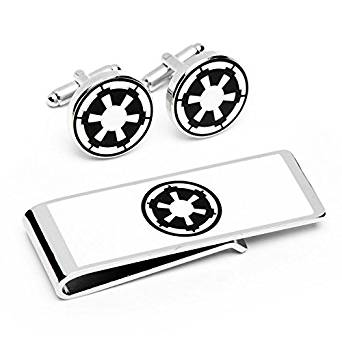 Star Wars Imperial Crest Tie Clip Clasp Bar Slide Silver Metal Shiny
