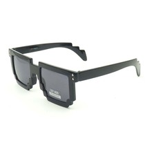 Most popular pixel fashion unisex mosaic square glasses with clear lens