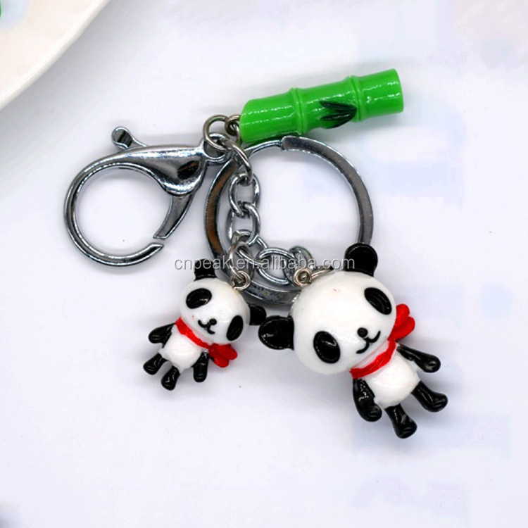 Popular manufacturer direct selling cute panda series resin material key chain