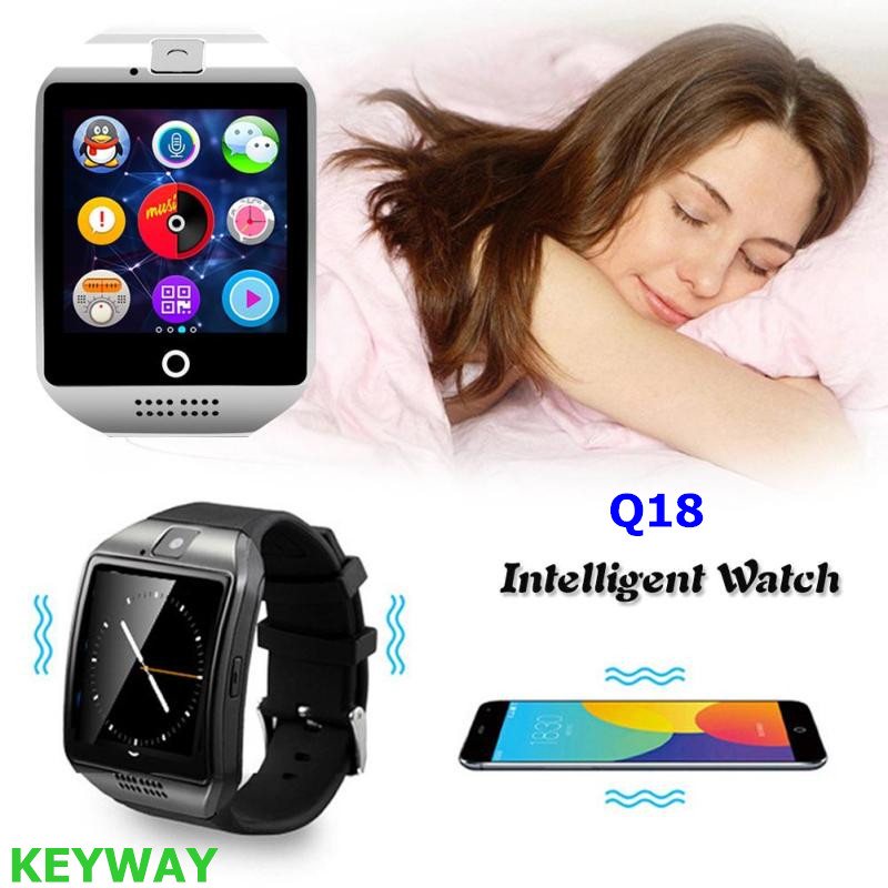 Bluetooth Q18 Smartwatch Support SIM Card GSM Video Camera Support Android System Q18 Smart Watch Phone For Galaxy S8