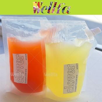 Transpa Juice Syrup Reusable Food Spout Pouch Liquid Bag