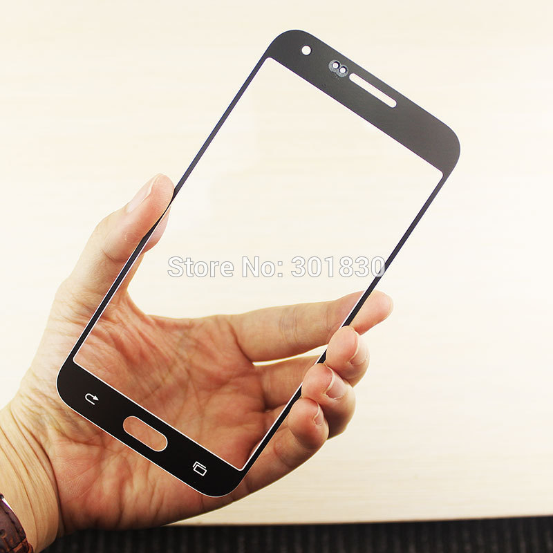 White 1 piece OEM Front Glass For Samsung Galaxy E7 E7000 Glass Outer Lens