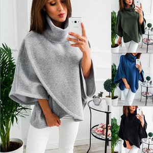New Brand 2018 Casual Shirts Women High Collar Lantern Sleeve Ladies Shirt Loose Tops Office Blouse