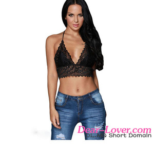 wholesale Lady Lace summer style sexy halter bralette crop top
