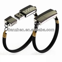 Leather wristband USB drive with your logo